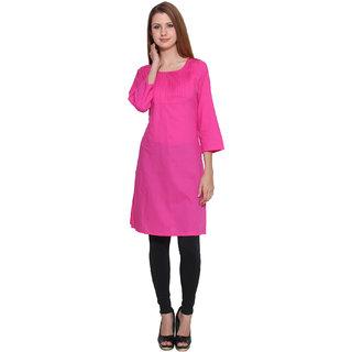 Lingra Pink Cotton Kurti