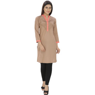 Lingra Tan Cotton Kurti
