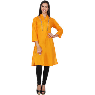 Lingra Yellow Cotton Kurti
