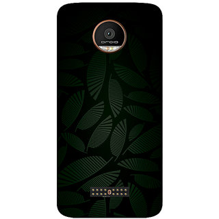 GripIt Dark Tropical Printed Case for Motorola Moto Z Play