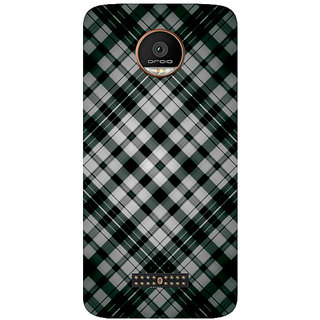 GripIt Fabric Pattern Printed Case for Motorola Moto Z Play