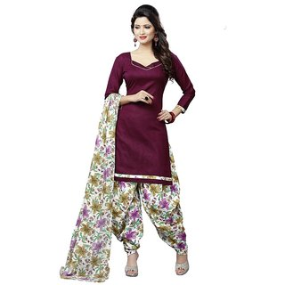 Minu Suits Readymade Cotton Salwar Suits New Maroon  - XXS