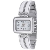 MARCO LSQ089-WHT-WHT Rectangle Shape White Dial Analog