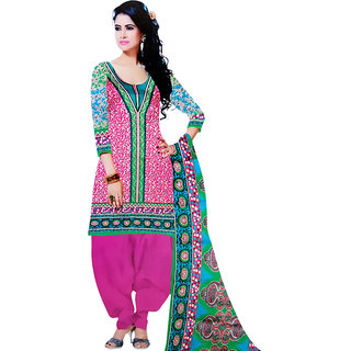 Aaishwarya Prints Multi Color Cotton Dress Material (Unstitched)