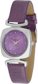 MARCO LSQ075-PRP-PRP Rectangle Shape Purple Dial Analog