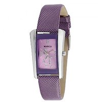 MARCO LSQ054-PRP-PRP Rectangle Shape Purple Dial Analog