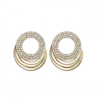 ce'lavy Gold Tone Stud Earings For Girls  Women