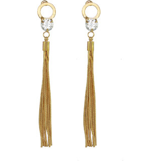 Ce'lavy Stone Embedded Classy Gold Tone Danglers