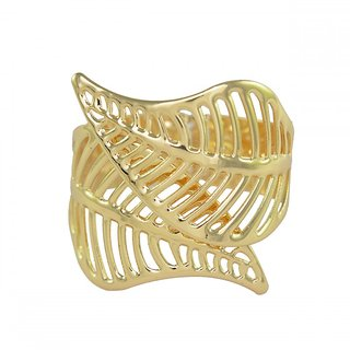 Ce'lavy Leafy Theme Gold Tone Wrist Cuff Bracelet For Girls  Women