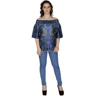 Famous by Payal Kapoor Navy Blue Top