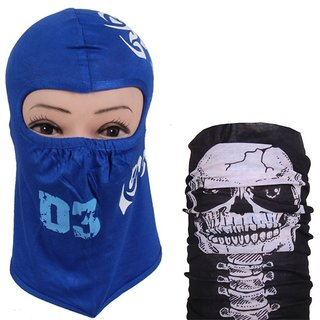 Sushito Blue Print Face Cover With Bandana JSMFHFM0215N