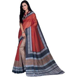 Sudarshansilk Multi Aariwork Dupion Silk Saree