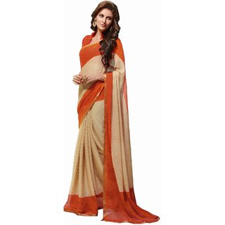 Sudarshan Silks Multicolor Georgette Printed Saree With Blouse
