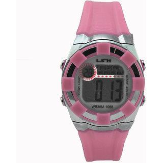 Polo House USA Digital Pink Dial Kids Watch
