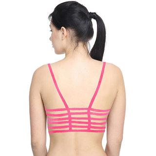 PrettyCat Flaunt Your Back  Pink Bralette
