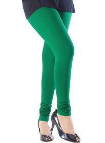 Green Cotton Lycra Legging