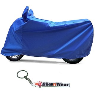 Water Proof Body Cover For TVS Victor Edge- Blue With Key Chain