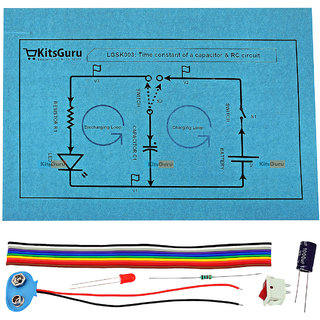 DIY Kit - Time Constant of a Capacitor  RC Circuit  LGSK003 Science Working Model