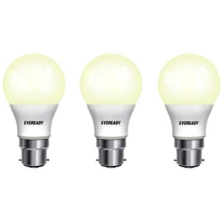 Eveready 5W 2700K Warm White Pack of 3 Led Bulbs