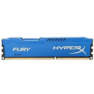 Kingston 8GB HyperX Fury Desktop Ram HX318C10F/8 1866MHz DDR3 CL10 DIMM - Blue