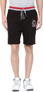 Fritzberg Men's Solid Black Shorts