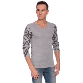 27Ashwood Men's Grey V-Neck T-shirt