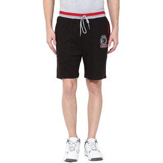 Fritzberg Men's Solid Black Shorts