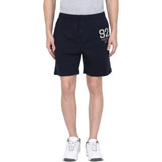 Fritzberg Men's Solid Navy Blue Shorts