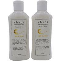 Khadi Harbal Shampoo (Silk  Shine) pack of 2, 420, ml
