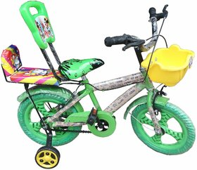 Oh Baby Baby 35.56 Cm (14) double seat bicycle with red color for your kids SE-BC-06