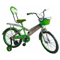 Oh Baby Baby 50.8 Cm (20) Double Seat Bicycle With SPOKE WHEEL In Green Color For Your Kids SE-BC-18