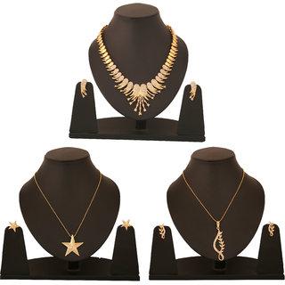 Touchstone Combo of 1 Piece Necklace set & 2 Pendant set