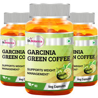 St.Botanica Garcinia Green Coffee Bean Extract - 90 Veg Caps - Pack Of 3