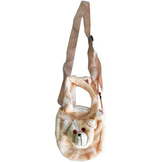 Cute Teddy Bear Cream Color Soft Sling Bag