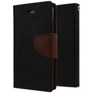 Redmi 3s Prime Mercury Wallet Style Flip Back Case Cover-Brown