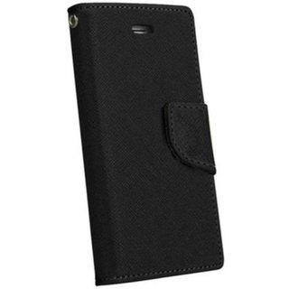 Redmi 3s Prime Mercury Wallet Style Flip Back Case Cover-Black