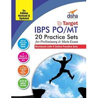 Target IBPS Bank Preliminary  Main PO/ MT Exam 20 Practice Sets Workbook - 16 in Book + 4 Online (5th edition)