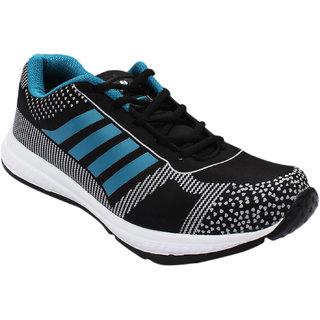 Opner Men Digital4M Black Aqua Sports Shoes