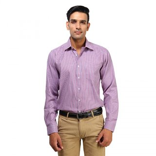 ROYAL SPADE Men's Houndstooth Formal Multicolor Shirt