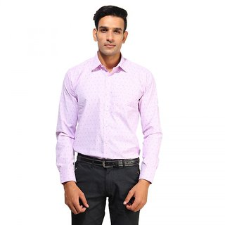 ROYAL SPADE Men's Self Design Formal Multicolor Shirt