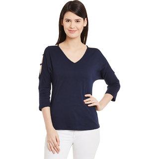242623ab73cfe Buy Hypernation Solid Women s Cold Shoulder T-shirt HYPW01127 Online ...