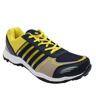 Opner Men 1077M Navy Blue Yellow Sports Shoes