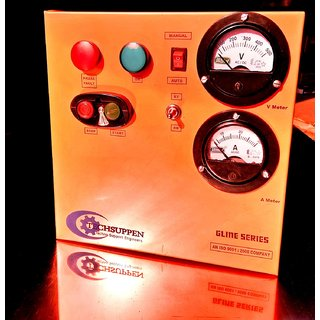 Three Phase DOL Starter with A. Meter  V. Meter -Auto Gline Series-1.5HP