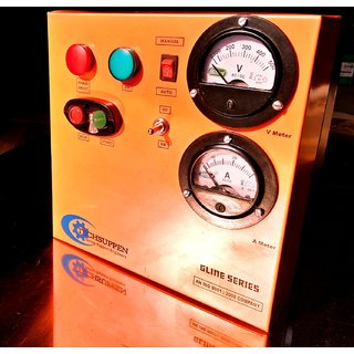 Three Phase DOL Starter with A. Meter  V. Meter - Auto Gline Series -2HP