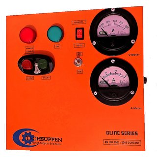 Three Phase DOL Starter with A. Meter  V. Meter - Auto Gline Series-7.5HP