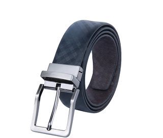 KIKO Black Reversible Leather Belt For Men