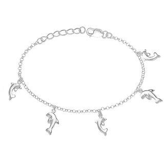 017823400 Taraash Fish Charm 925 Sterling Silver Bracelet For Women BR1108S