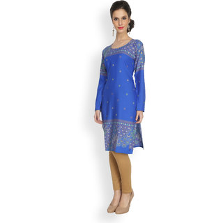 Eternal Blue printed crepe kurti
