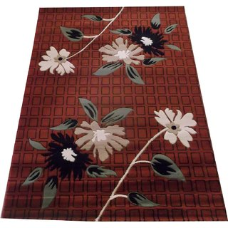 NAZ CARPET  HIGH QUALITY BRANDED EMBOSSED CARPET FLORAL DESIGN WITH 0.5 INCH PILE  For Your Living Room Size 180x240cms