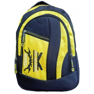 Black & Yellow Fabric Expandable Office Backpacks